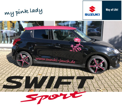Suzuki Swift Sport pink Lady